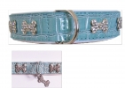 Dog and Star Hundelederhalsband Blue Croc [Details]